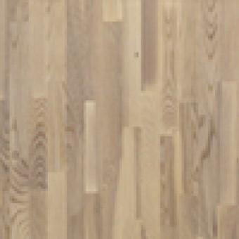 Паркетная доска Polarwood Classiс Ясень Living white matt 3-полосный