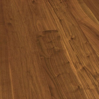 Паркетная доска Wood Bee Classic Орех Американский / American Walnut (1-полосный, UV-лак)