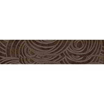 Бордюр Пьемонтэ коричневый Камелия7,2х30