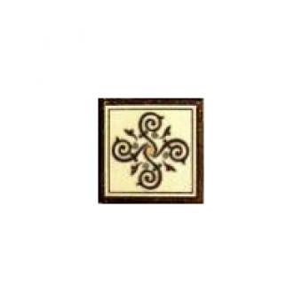 Вставка Гётеборг (коричневый) 6х6