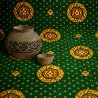 Ковролин Витебские ковры Арт 24 Лидер Круг (зеленый)