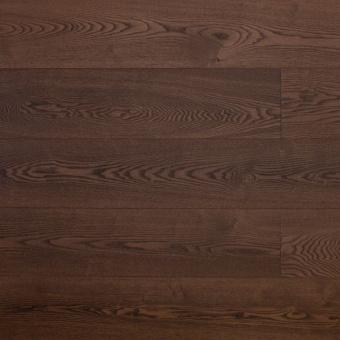 Паркетная доска Amber Wood Классика тонированная Ясень Кофе 1-полосный