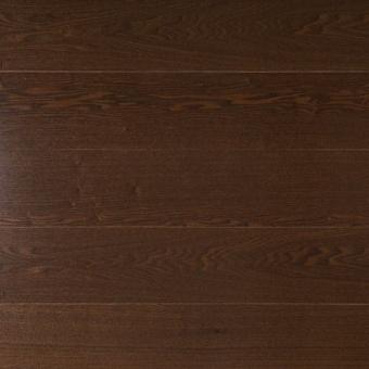Паркетная доска Amber Wood Классика тонированная Ясень Шоколад 1-полосный