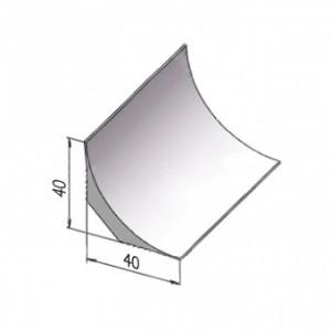Формирующая угол галтель (плинтус с мягкими краями) из ПВХ для завода на стену ТК-40