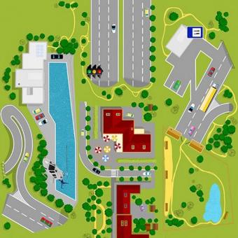 Пробковый пол Corkstyle Adventures & Children Road (клеевой)