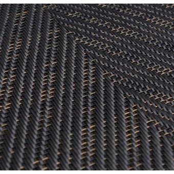Тканое ПВХ-покрытие (виниловый ковролин) Bolon Graphic HERRIGBONE BLACK