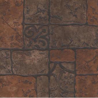 Керамический гранит Бастион 4 коричневый 40x40 глазурованный