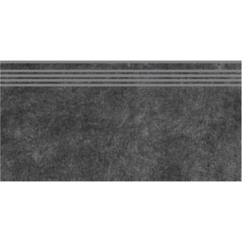 Керамогранит SG615000R\GR | Ступень Королевская дорога черный обрезной