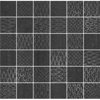 Керамогранит DD2008\MM | Декор Про Дабл черный мозаичный